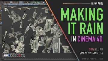 C4D如何制作漫天飞舞的钱币视频教程下载