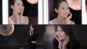 中年妇女敷面膜视频素材下载