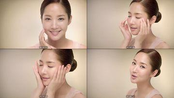 美女呵护肌肤视频素材下载