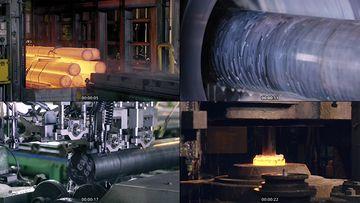 炼钢工厂视频素材下载