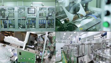 面膜生产线视频素材