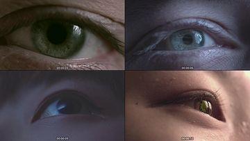 睁开眼睛视频素材