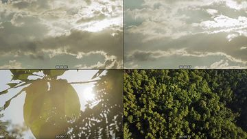 阳光穿过云层视频素材