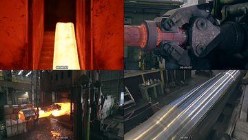 重工业钢铁厂视频素材
