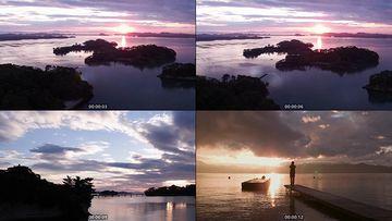 海面意境剪影视频素材