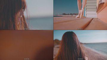 跳芭蕾的女孩视频素材