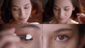 眼妆美女视频素材