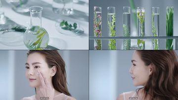 天然植物萃取护肤精华视频素材