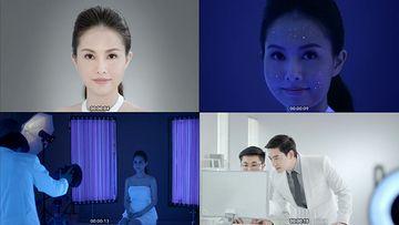 皮肤检测痘痘视频素材