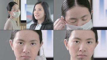 皮肤干燥蜕皮视频素材
