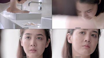 美女卸妆视频素材