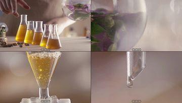 植物精华萃取视频素材