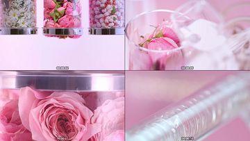 玫瑰花化妆品系列视频素材