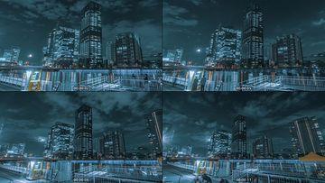 日本高楼大厦夜晚视频素材