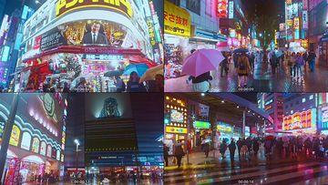 日本旅行新宿城市夜景视频素材