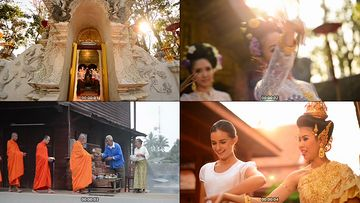 泰国风情傣族舞视频素材