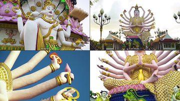 泰国千手观音庙视频素材