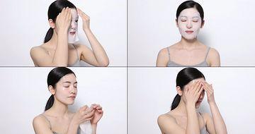 4K敷面膜的女孩皮肤水嫩视频