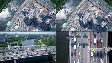 4K航拍莫斯科高楼大厦视频素材