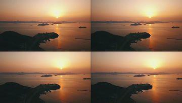 4K海面上的日落视频素材