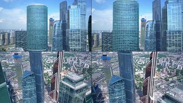 4K航拍俄罗斯高楼大厦