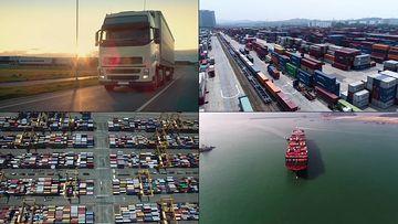 韩国港口视频素材