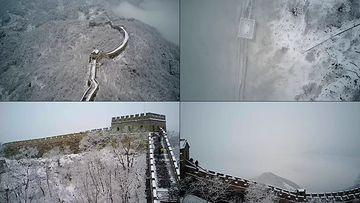 4K冬天里的长城