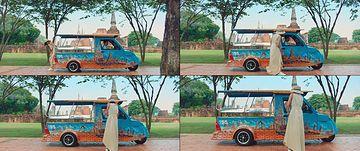 到泰国旅游做计程车的女孩