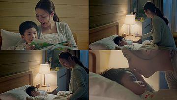哄小孩睡觉的妈妈视频素材