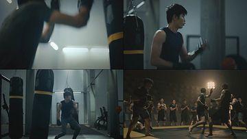 拼搏拳击视频素材