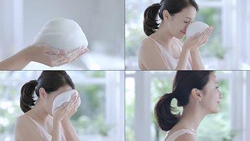 泡沫型洗面奶视频素材