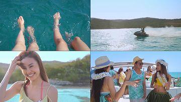 上游艇玩耍视频素材