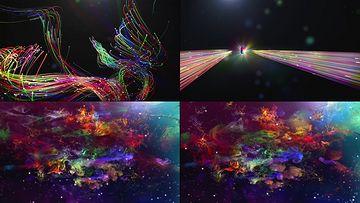 彩色光线穿越星际