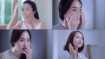 保养护肤的女人们