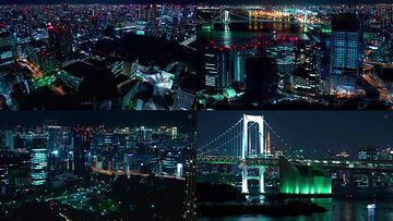 4K日本东京夜景视频素材
