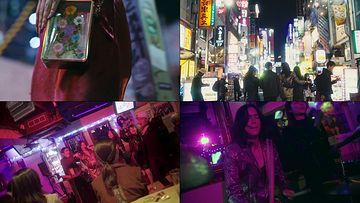 走在日本街头的旅客美女