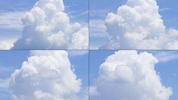 4K特写一朵翻滚的云彩视频素材