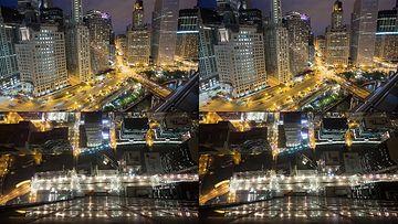 4K大都市城市夜景