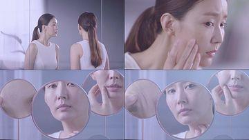 痘痘肌肤有烦恼的女人视频素材