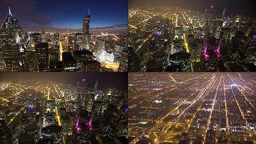 美国芝加哥城市夜景视频素材