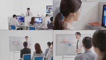 职场办公环境同事视频素材