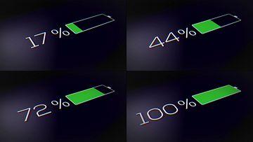 手机充电速度视频素材