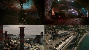 挖矿地下作业视频素材