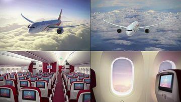 海南航空的飞机在天上