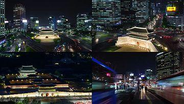 韩国首尔地标建筑视频素材