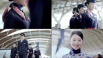 机场机长空姐视频素材下载