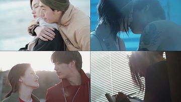 情侣接吻视频素材