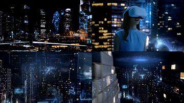 未来城市AR眼镜视频素材