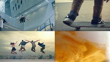 踩滑板的年轻人视频素材
