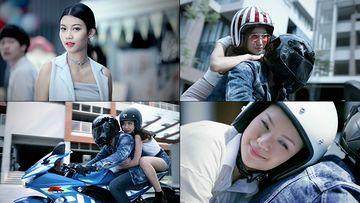骑摩托车的女孩